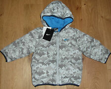 Nike Baby Infant Puffa Padded Jacket Velocity Grey Coat 9-12 18-24 24-36 mos