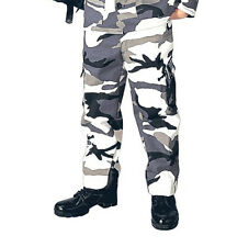 Kids Boys City Snow Camo Police Military Style BDU Airsoft Pants Fatigues