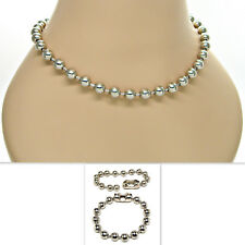 9.5mm Ball Bead Chain Bracelet Necklace 8 10 12 16 18 20 24 30 inches