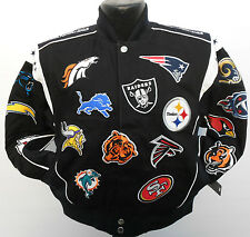 NFL AFC NFC TEAM COLLAGE NATIONAL FOOTBALL LEAGUE YOUTH JACKET NWT NFL PLAYOFFS