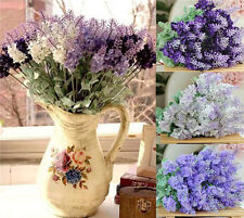 1 Bouquet Artificial Lavender Silk Flower Decoration Home Garden Wedding Party
