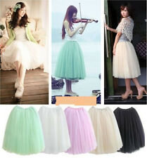 Women Girl Bohemia Princess Queen Lolita Gauze Maxi 2in1 Skirt Dress CITI US
