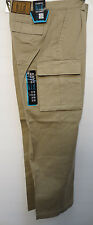 KHAKI CARGO PANTS 6 POCKET NWT 30 TO 54 WAIST SIZES WITH 34 INSEAM  WORK CASUAL
