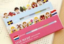 120 Pages Small World Series Sticky Notes Index Marker Point Flags ST-SW001