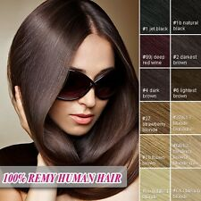Full Head Clip in 100% Remy Human Hair Extensions Free Shipping