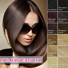 Straight Full Head Clip In Remy Human Hair Extensions Natural Human Hair All