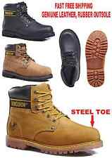 KINGSHOW MENS 8036ST GENUINE LEATHER CONSTRUCTION WAREHOUSE STEEL TOE BOOTS SHOE