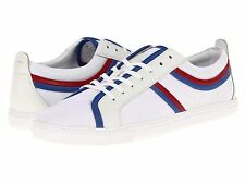 Hugo Boss Mens Loinod Open White Casual Lace-Up Sneakers Shoes