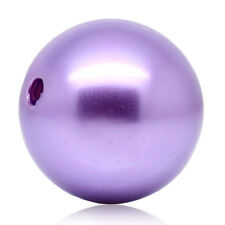 Wholesale Market Acrylic Spacer Beads Round Ball Purple 20mm Dia.