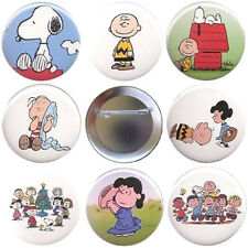 Charlie Brown Set of 8 Pinback Buttons Magnets or FlatBacks - Peanuts Pins Badge
