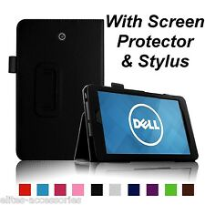 Flip Case Cover for Dell Venue 8 Android Tablet + Screen Protector +G Stylus BLK