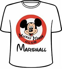Many Tee Colors-Personalized Disney Mickey Mouse Club T-Shirt