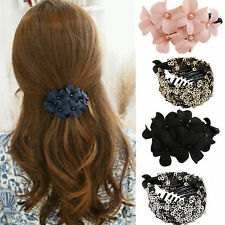Great Handmade women girl flower Banana clip barrette hair clip hair pin claw