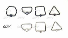 Unique Captive bead Ring Square Triangle Hexagon Surgical Hoop earring Nose 16g