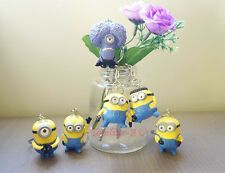 Despicable Me 2 PVC Minions Funny Pose Figure Keyring Car Key Ring Chain