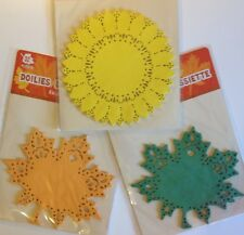 """32pc Fall Leaf Or Sunflower Shaped Doilies 6"""" X 6"""" Crafts, Wreaths or Fall Decor"""