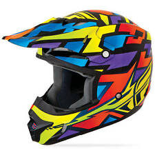Fly Racing Mx 2015 Kinetic Blockout Wild MTB Dirt Bike Motocross Adult Helmet