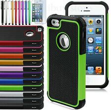 Colorful Heavy Duty Shockproof Hybrid Hard Case Cover For iPhone5 5s+Film+stylus
