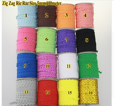 1 and 5 metres Ric Rac Lace 5mm Sewing Trim Braid Doll scrapbooking school craft