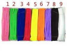 30cmx6mm Pipe Cleaners Stems Tinsel Chenille Stems Pipe,9 Colors