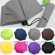 New Portable Anti-uv Waterproof Mini Folding Umbrella Triple folding Umbrella