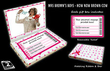 MRS BROWNS BOYS Personalised Concert Ticket Gift Box