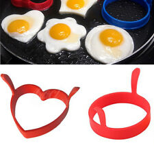 Creative Round Heart Silicone Egg Frier Poacher Pancake Ring Mould Tool