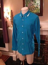 Brand New Bright Blue Vince Shirts S M L XL 2XL Fitted Distressed Style
