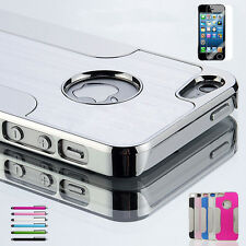 Luxury Aluminum Chrome Hard Protective Cover Case For iPhone 5 5G 5S 5C