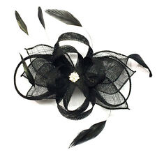 SINAMAY SWIRL COMB FASCINATOR melbourne cup, spring races, wedding, millinery