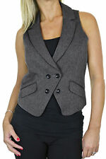 NEW (5105) Ladies Smart Stylish Waistcoat For Clubbing Or Office 8-18