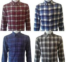 Men's Check Shirt Flannel Lumberjack Work Shirt Brush Cotton Casual New S-XXL