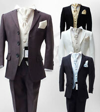 6 Piece Italian Cut Page boy Suit, Boys Wedding Suits Age 6 Months to 15 Years