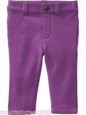 NWT OLD NAVY Little Girls Pop Color Stretch Pants Purple 0-3m NEW