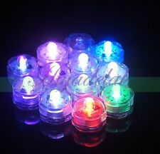 Battery Operated Submersible LED Tea Lights Waterproof Wedding Floral Vase x1 SH