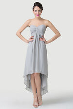 Party Queen High-Low Hem Chiffon Cocktail Formal Evening Prom Bridesmaids Dress