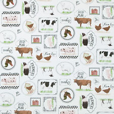 Classic Farmers Market Animals PVC Vinyl Wipe Clean Tablecloth; Rectangle, Round