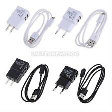 UN3F New EU/US Wall Charger USB Data Sync Cable for Samsung N7100 GALAXY Note2