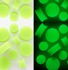 Pair Glow in the Dark Flexible Silicone Ear Plugs Gauges Flared Ear Plugs Gauges