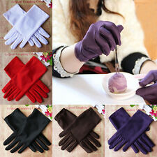 9 Colors Evening Party /Wedding / Prom Stretch Satin Gloves for Women AG
