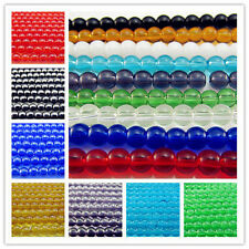 Free LOTS Wholesale Glass Round Spacer Beads findings 4mm Many Colors to Choose