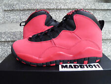 DS NEW AIR JORDAN X 10 GS FUSION RED 2014 US 4.5 - 6 YOUTH WOMENS 487211-605