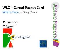 Cereal Packet Printer Card 250gsm 350microns  A4 A3 A2  White Front - Grey Back