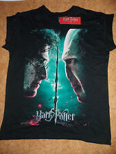 Primark HARRY POTTER & LORD VOLDEMORT DEATHLY HALLOWS T Shirt Official Licensed