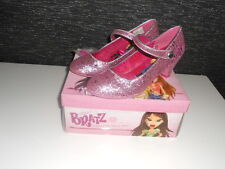 Girls Bratz pink sparkly glitter high heel shoes NEW