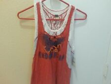 "CLEARANCE!! NWT We The Free People Lace Tank ""Indonesia"" Red Combo $78 Retail!"