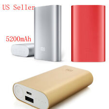 Portable 5200mAh Aluminum Power Bank Battery Charger for iPhone Mobile Xiaomi