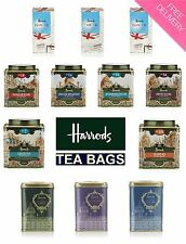 HARRODS LONDON UK English Tea Drink TEA BAGS in a Famous TIN / Card Box