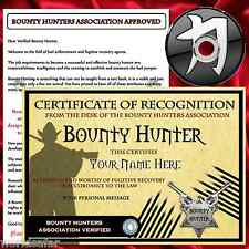 PERSONALISED BOUNTY HUNTER GIFT PACK + XMAS PRESENT GIFT FOR HIM HER
