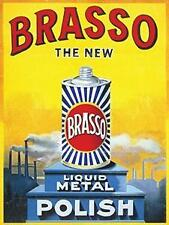 BRASSO LIQUID METAL RETRO SMALL,MEDIUM LARGE  VINTAGE STEEL WALL PLAQUE TIN SIGN